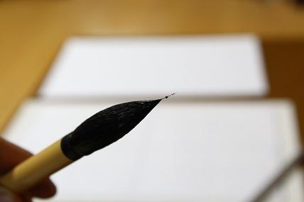 新品の筆は毛が抜けることもあります